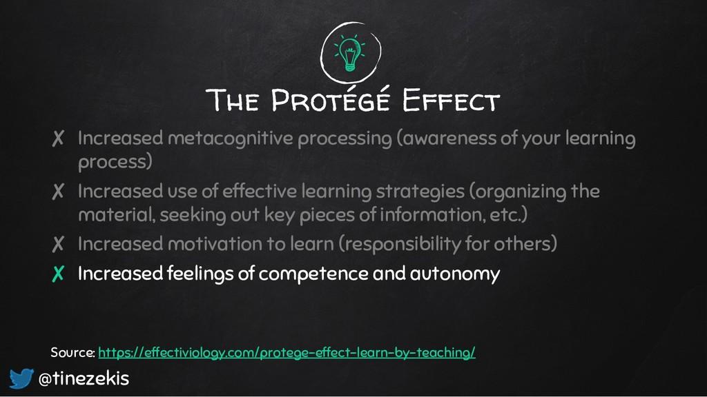 The Protégé Effect ✘ Increased metacognitive pr...