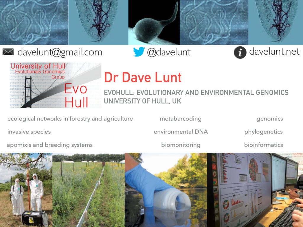 EVOHULL: EVOLUTIONARY AND ENVIRONMENTAL GENOMIC...