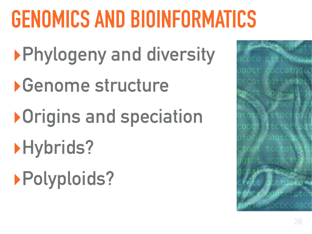 GENOMICS AND BIOINFORMATICS ▸Phylogeny and dive...