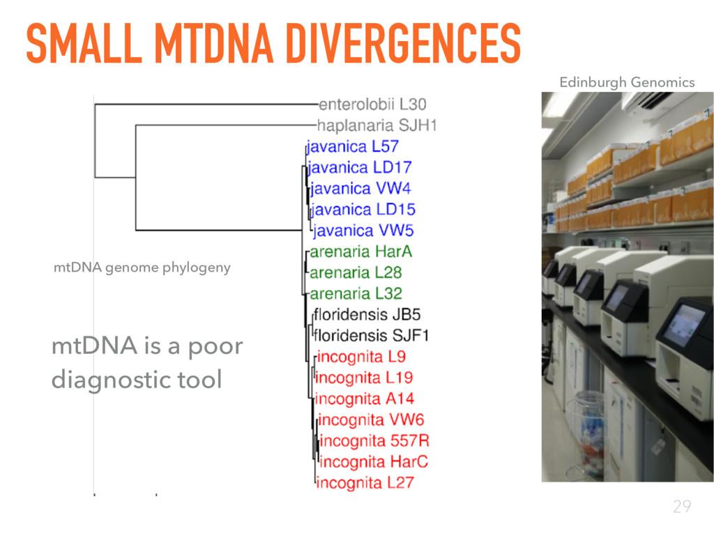 29 SMALL MTDNA DIVERGENCES Edinburgh Genomics m...