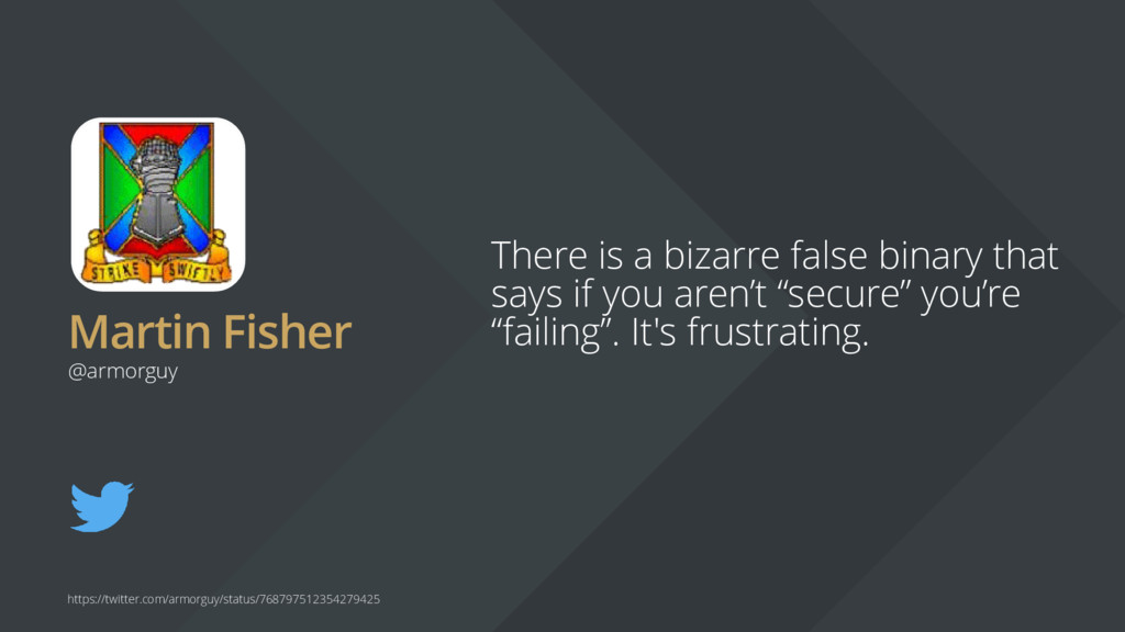 Martin Fisher There is a bizarre false binary t...