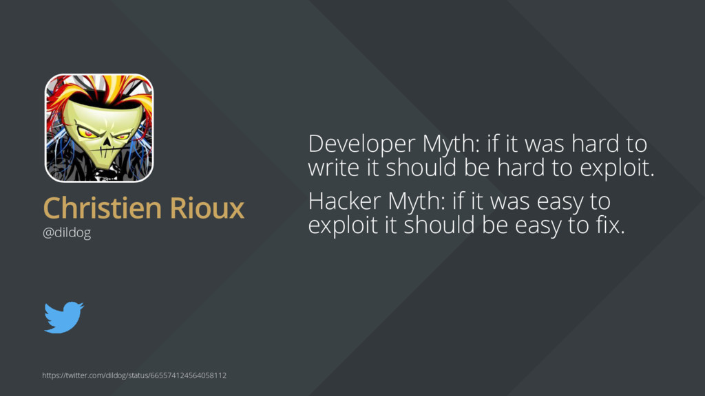 Christien Rioux Developer Myth: if it was hard ...