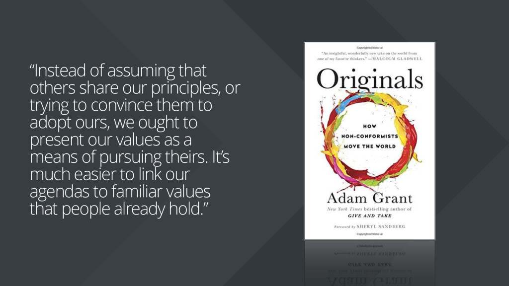 """Instead of assuming that others share our prin..."