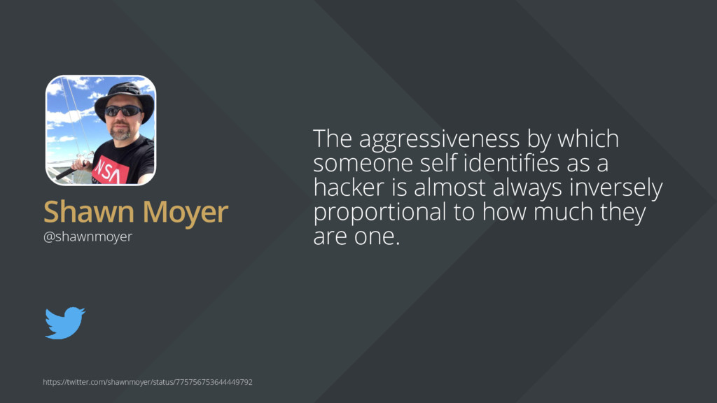 Shawn Moyer The aggressiveness by which someone...