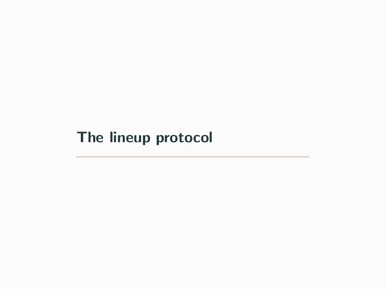 The lineup protocol