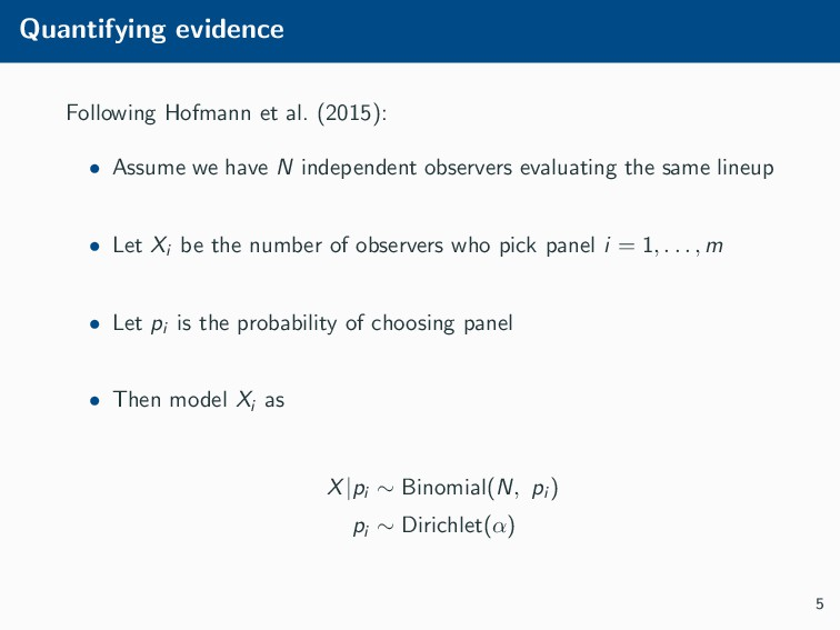 Quantifying evidence Following Hofmann et al. (...