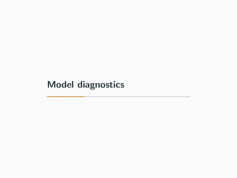 Model diagnostics