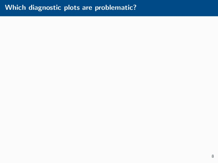 Which diagnostic plots are problematic? 8