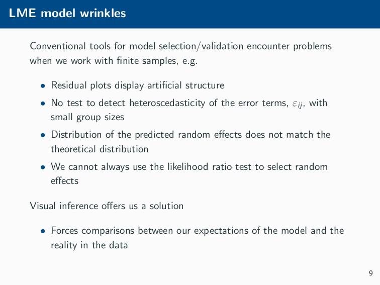 LME model wrinkles Conventional tools for model...