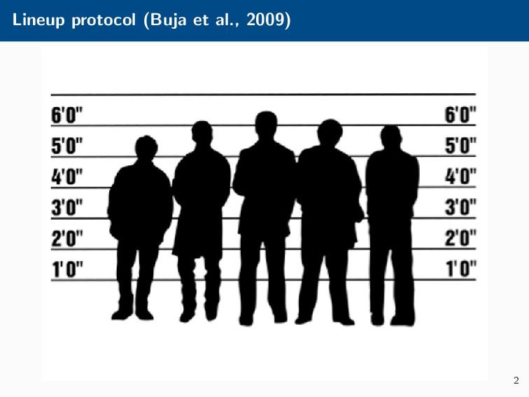 Lineup protocol (Buja et al., 2009) 2