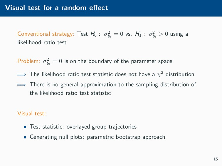 Visual test for a random effect Conventional str...