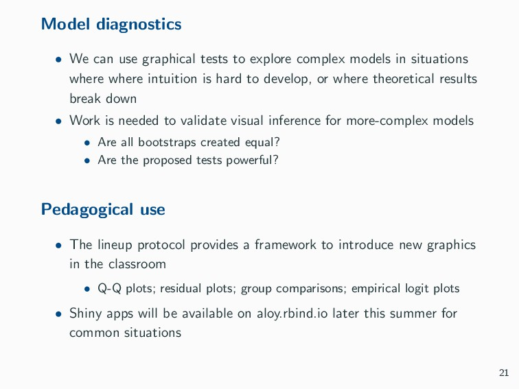 Model diagnostics • We can use graphical tests ...