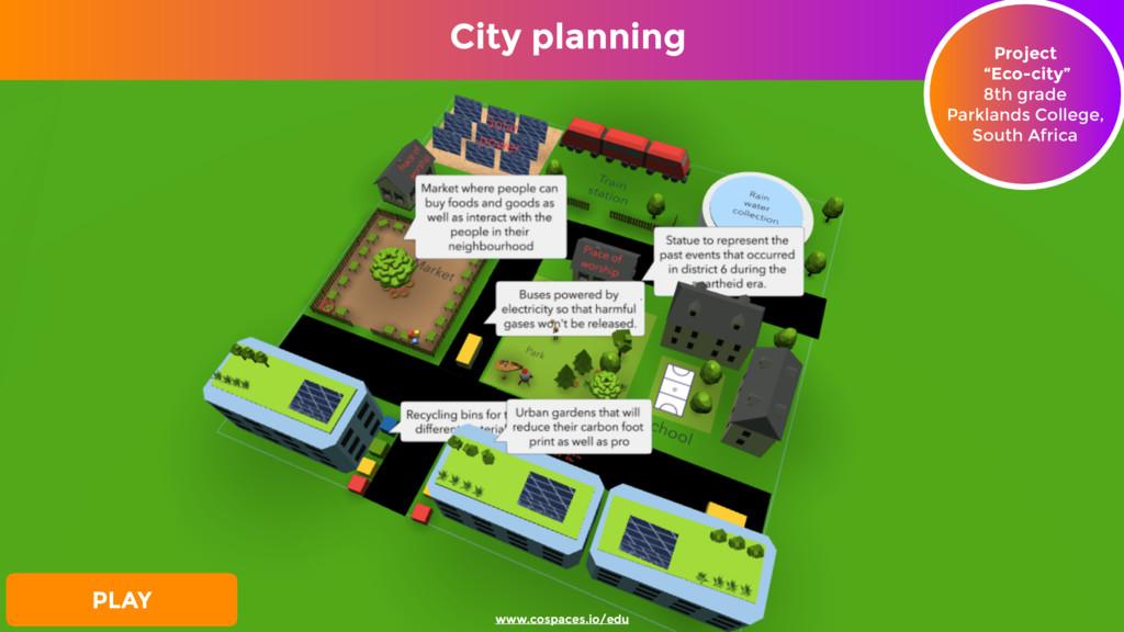 """City planning Project """"Eco-city"""" 8th grade Par..."""