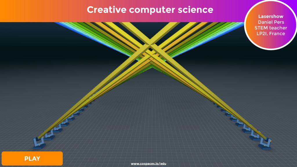 Creative computer science Lasershow Daniel Pers...