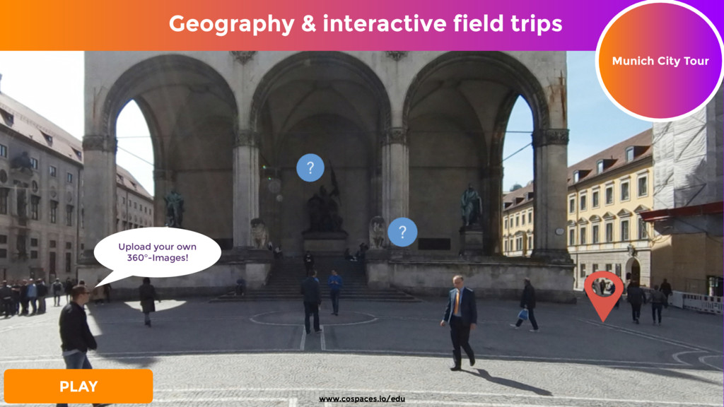Munich City Tour PLAY Upload your own 360°-Ima...