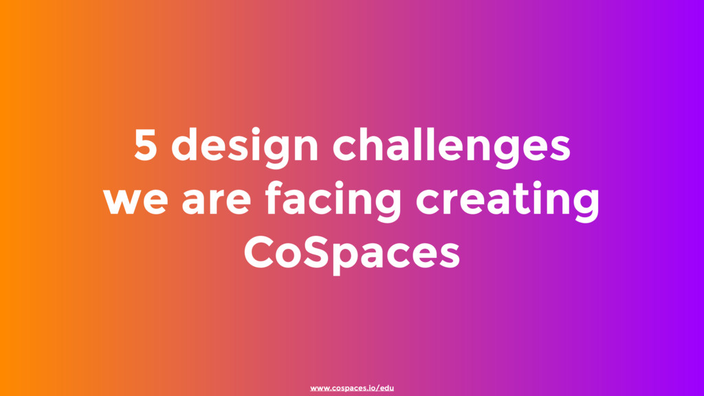 5 design challenges we are facing creating CoS...
