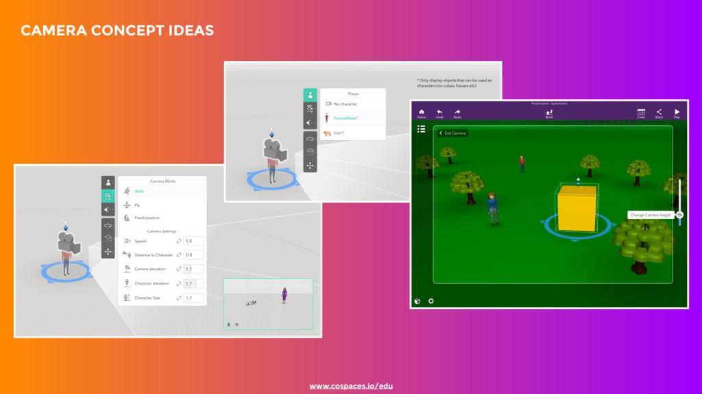CAMERA CONCEPT IDEAS www.cospaces.io/edu