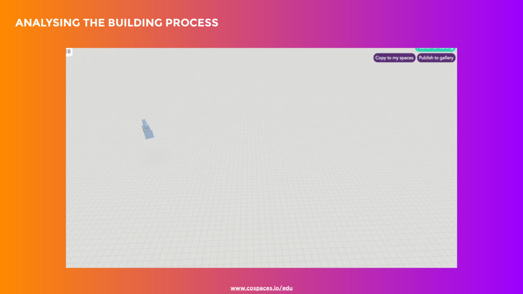 ANALYSING THE BUILDING PROCESS www.cospaces.i...