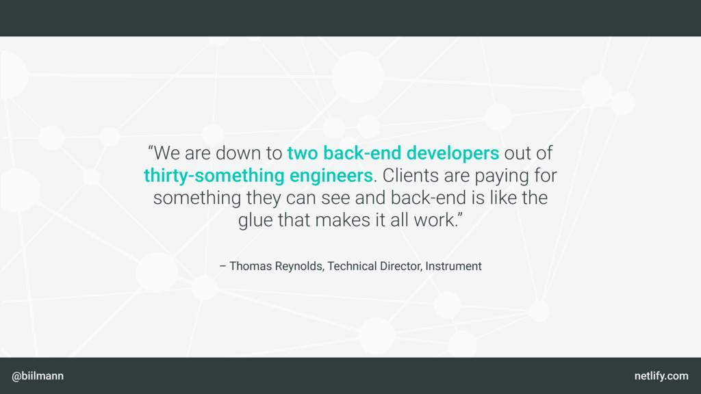 @biilmann netlify.com – Thomas Reynolds, Techni...