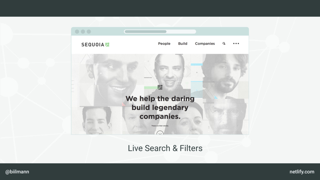 @biilmann netlify.com Live Search & Filters