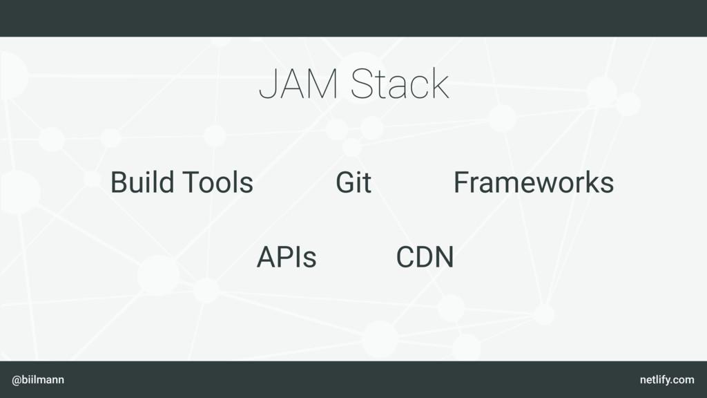 @biilmann netlify.com JAM Stack Git Build Tools...