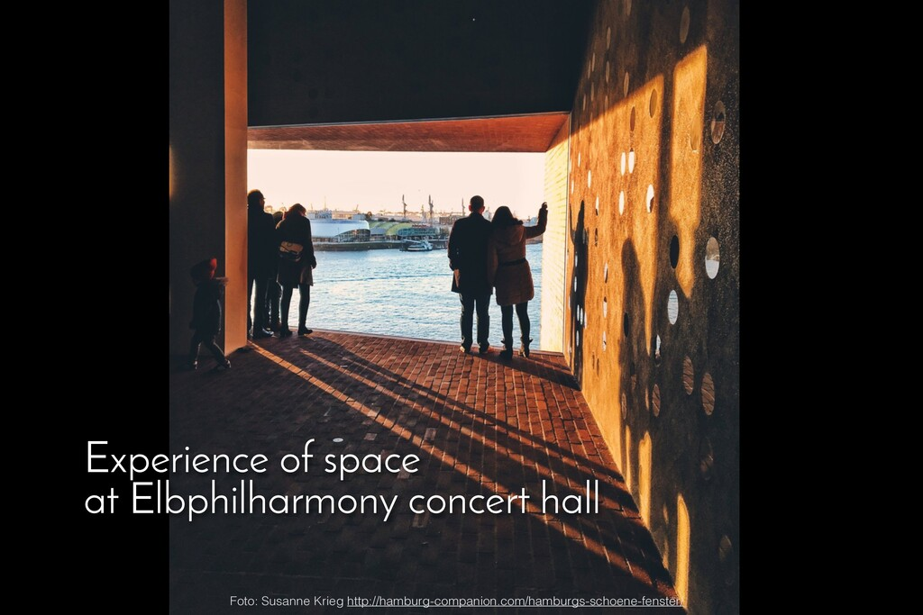 Experience of space at Elbphilharmony concert h...