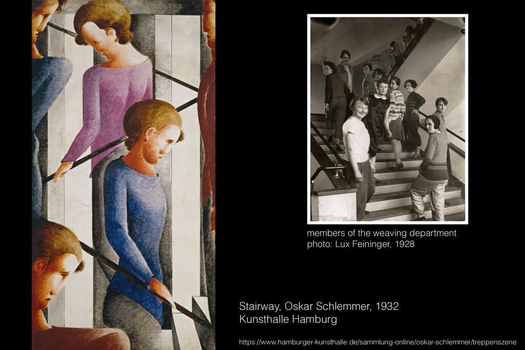 Stairway, Oskar Schlemmer, 1932 Kunsthalle Hamb...