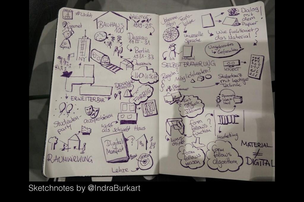 Sketchnotes by @IndraBurkart