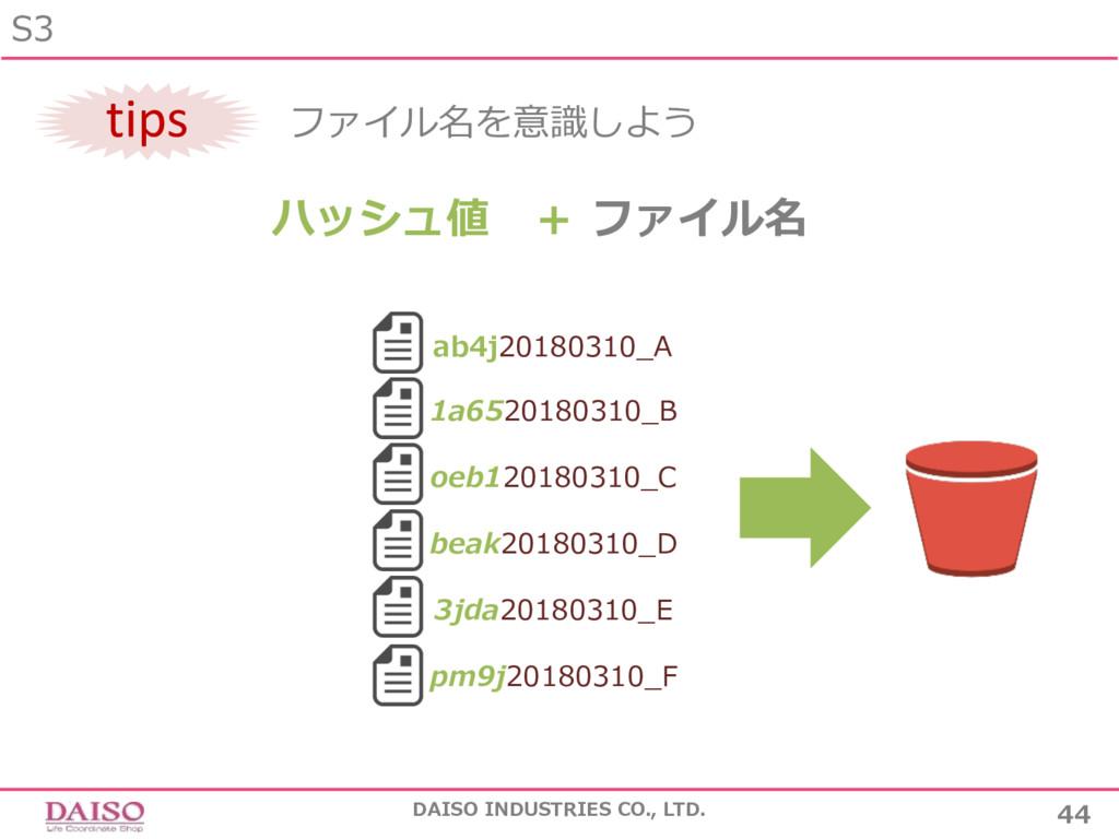 S3 44 DAISO INDUSTRIES CO., LTD. tips ファイル名を意識し...
