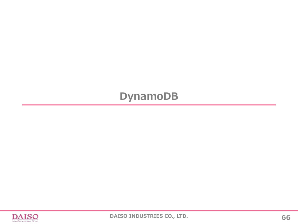 DynamoDB 66 DAISO INDUSTRIES CO., LTD.