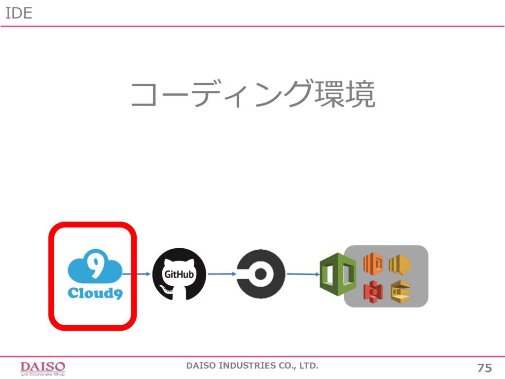 コーディング環境 IDE 75 DAISO INDUSTRIES CO., LTD.