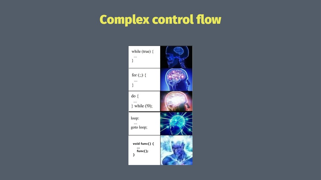 Complex control flow