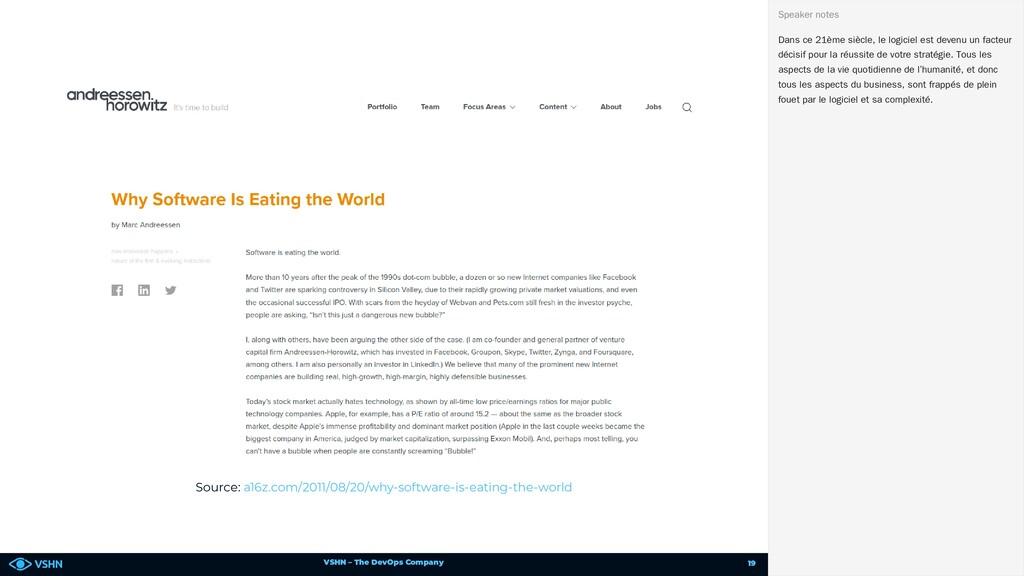 VSHN – The DevOps Company Source: a16z.com/2011...