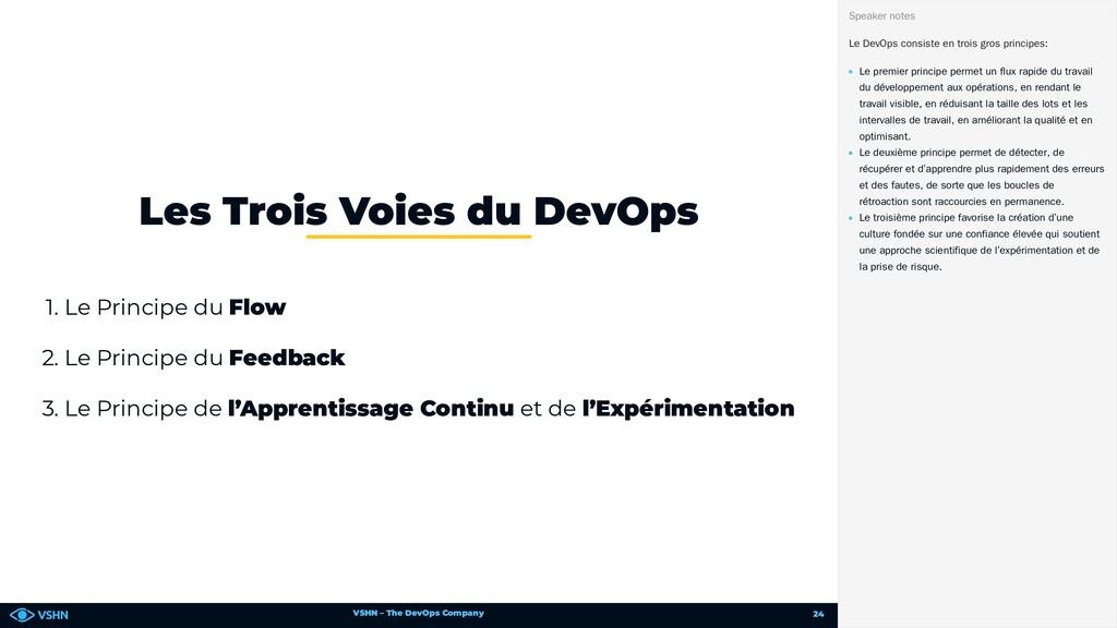 VSHN – The DevOps Company 1. Le Principe du Flo...