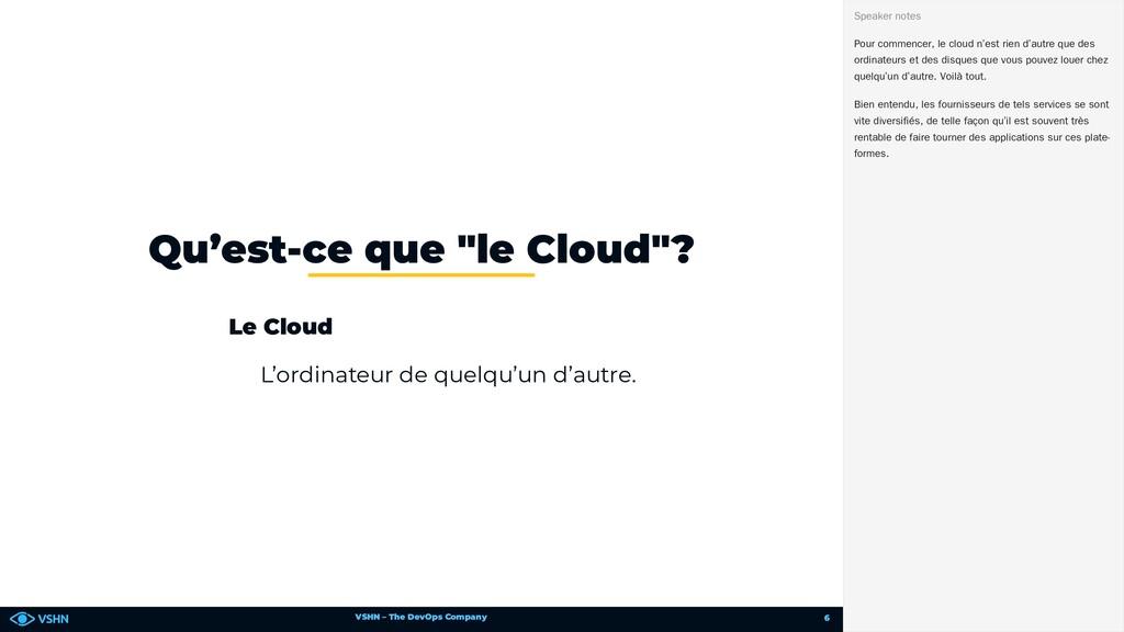 VSHN – The DevOps Company Le Cloud L'ordinateur...