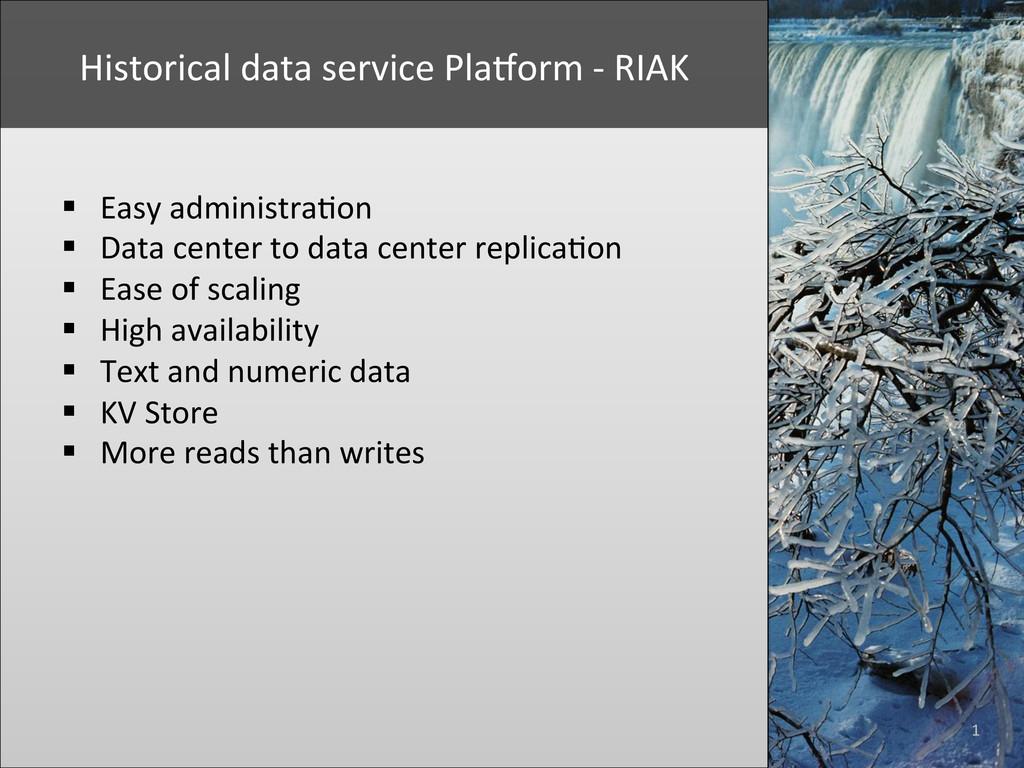 1  Historical data service PlaYorm...