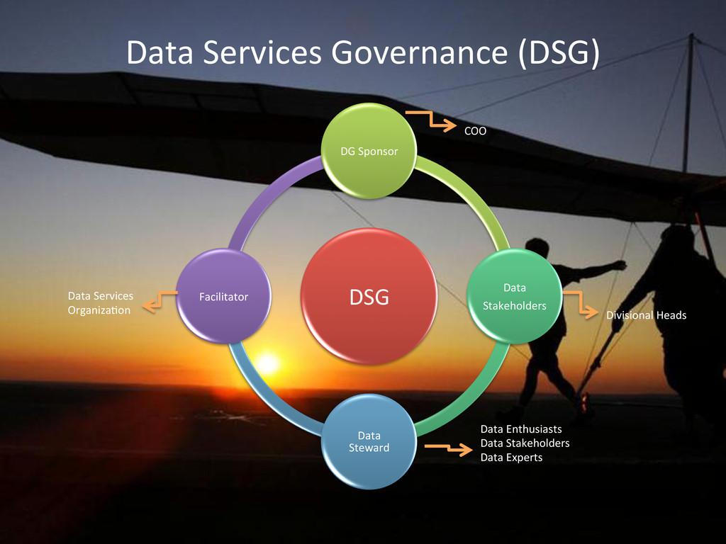 Data Services Governance (DSG)  ...