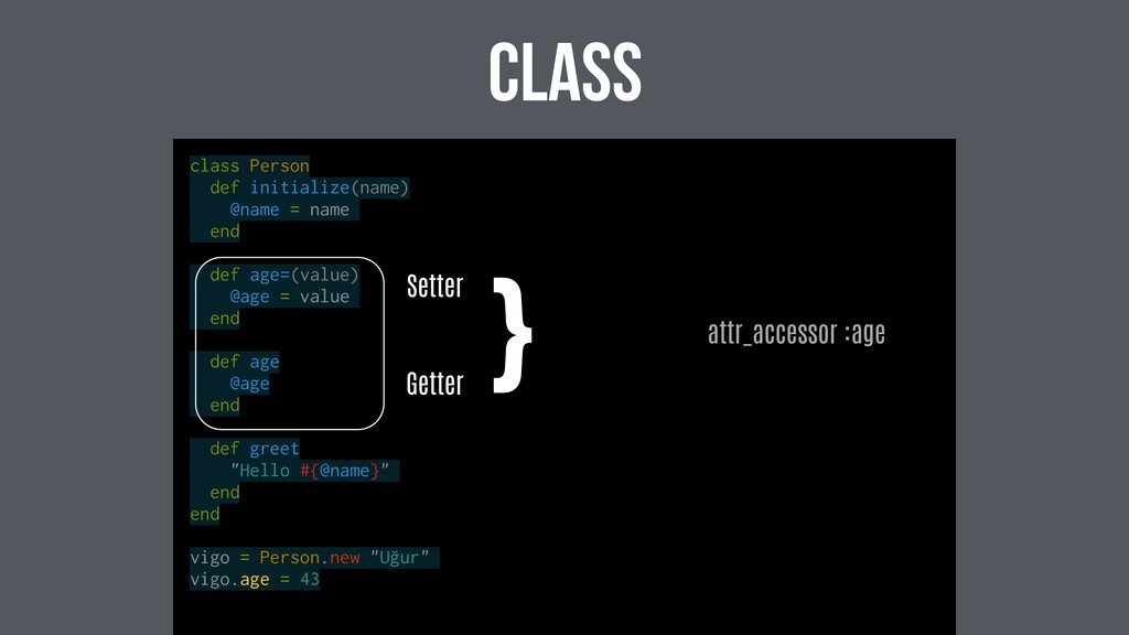 class class Person def initialize(name) @name =...