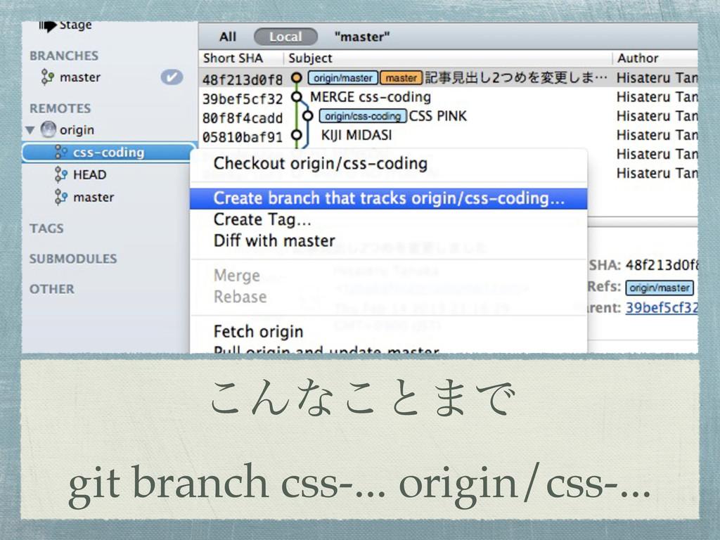 ͜Μͳ͜ͱ·Ͱ git branch css-... origin/css-...