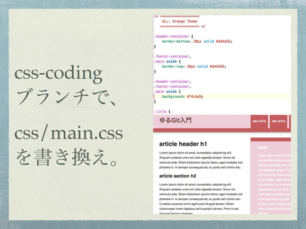 css-coding ϒϥϯνͰɺ css/main.css Λॻ͖͑ɻ