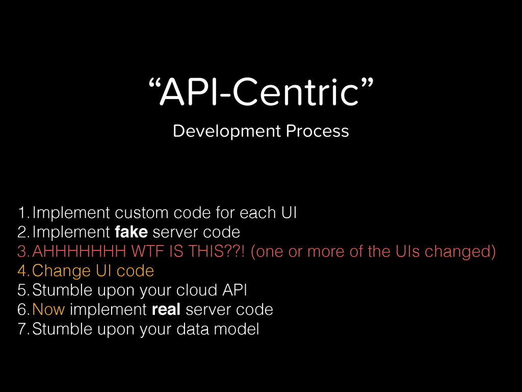 """API-Centric"" Development Process 1.Implement c..."