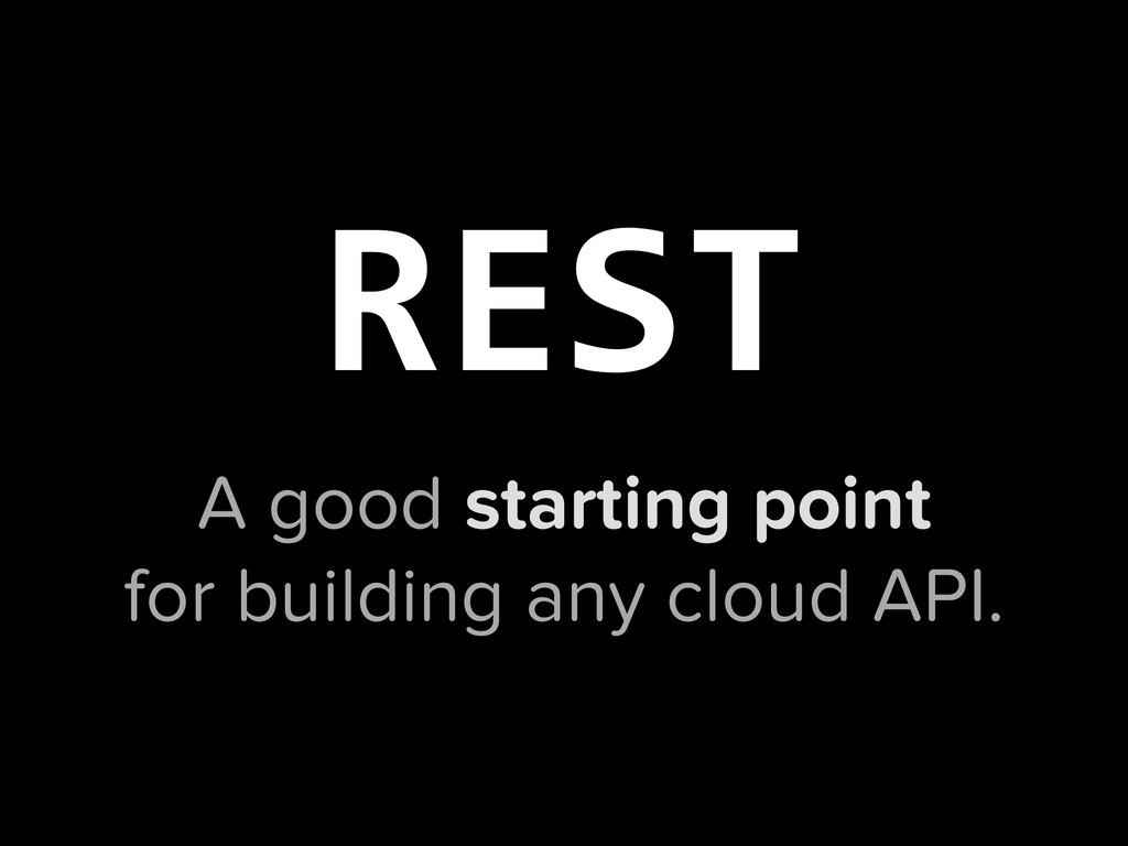 A good starting point for building any cloud AP...