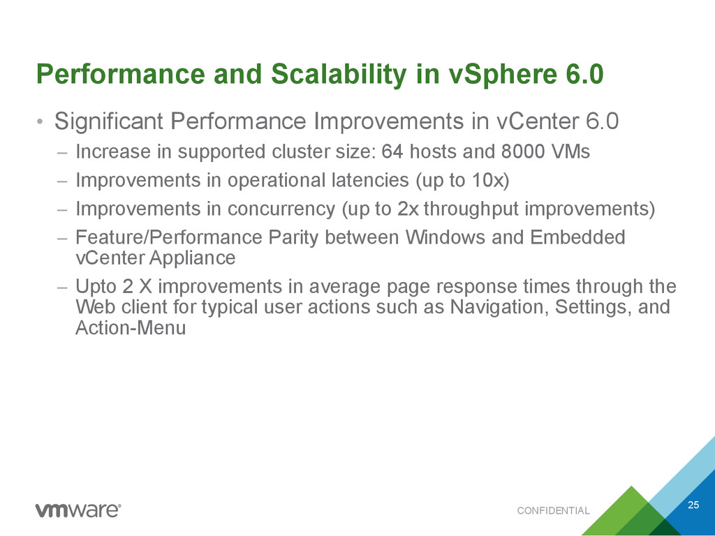 CONFIDENTIAL Performance and Scalability in vSp...