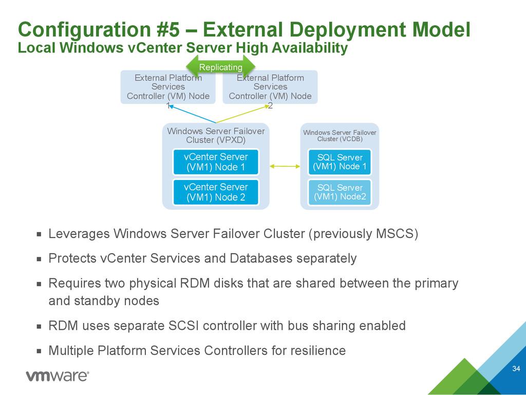 Configuration #5 – External Deployment Model L...