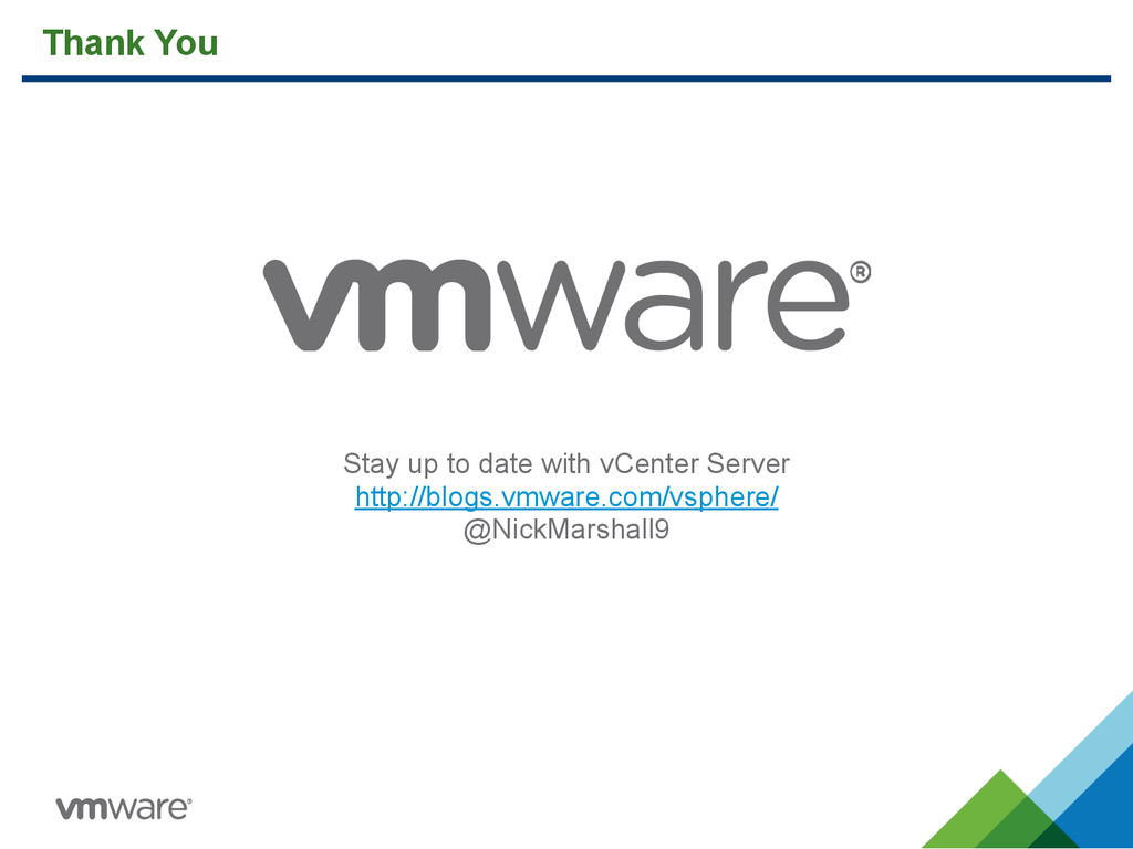 Thank You Stay up to date with vCenter Server h...