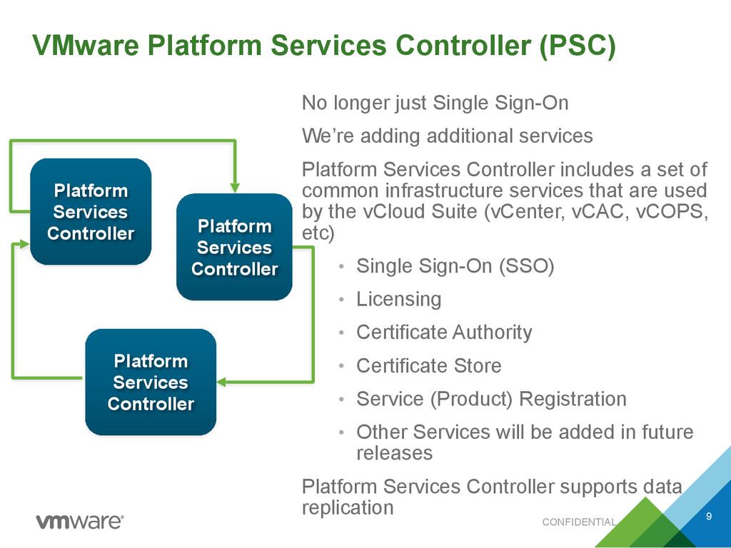 CONFIDENTIAL VMware Platform Services Controlle...