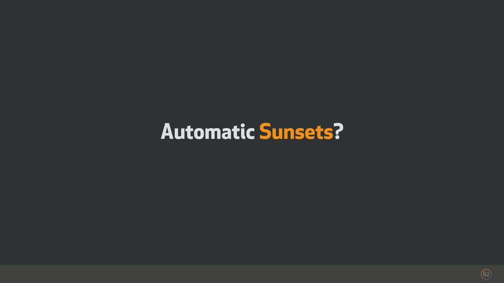 Automatic Sunsets? 62