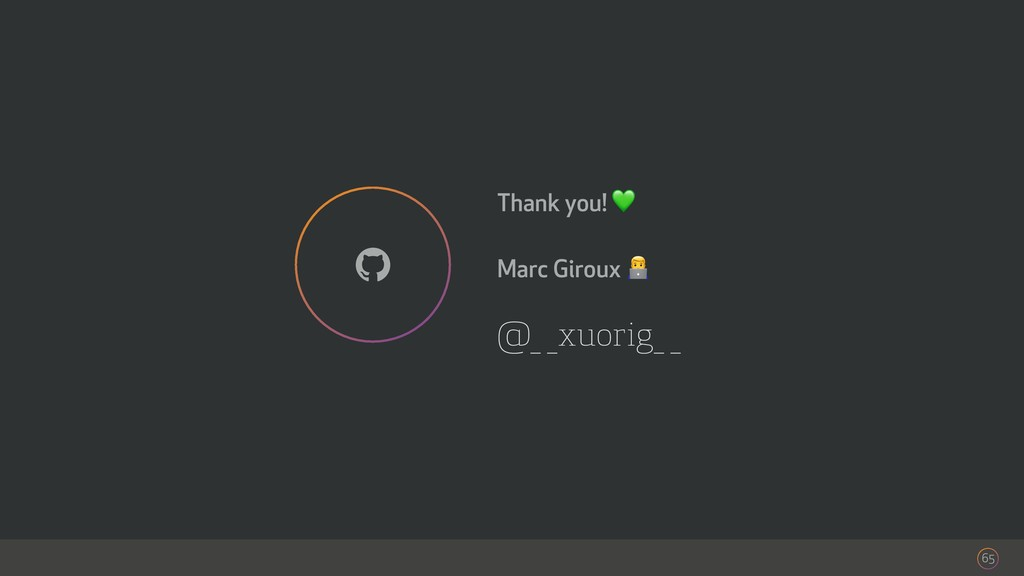 @_ _xuorig_ _ Thank you!  Marc Giroux ! 65 !