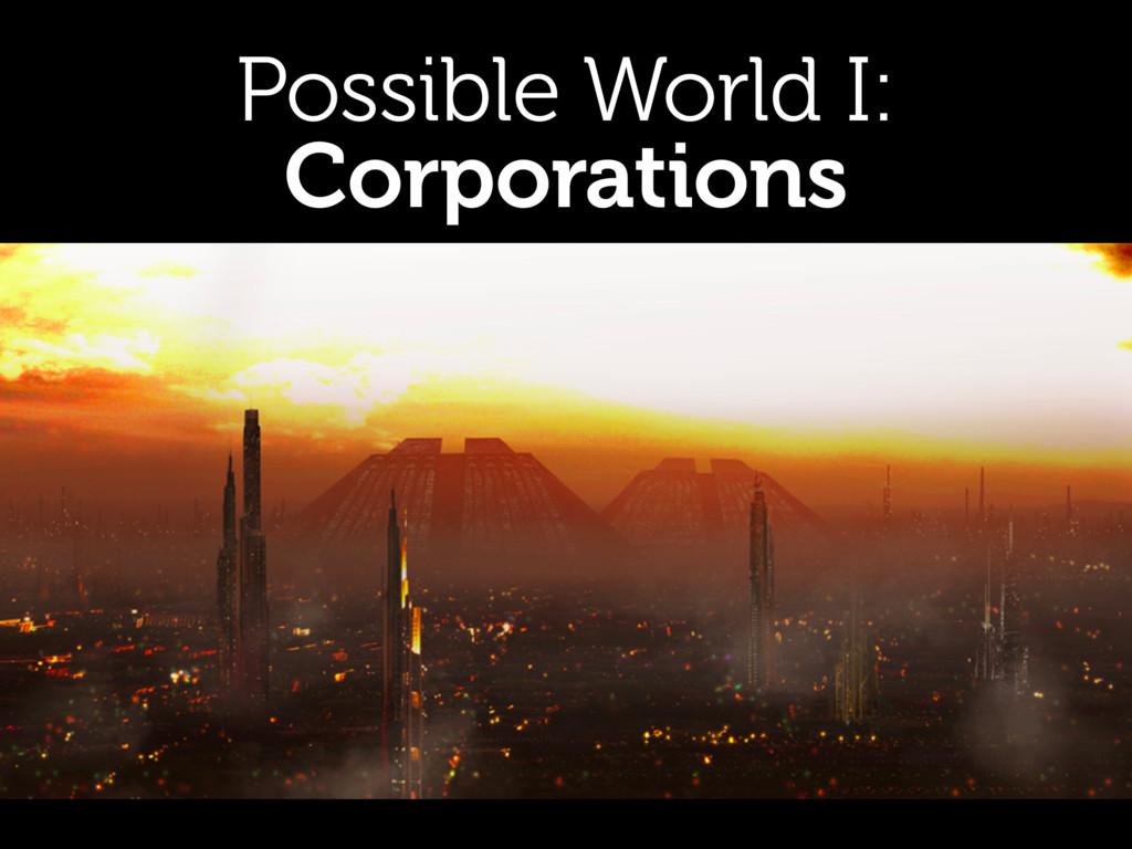 Possible World I: Corporations