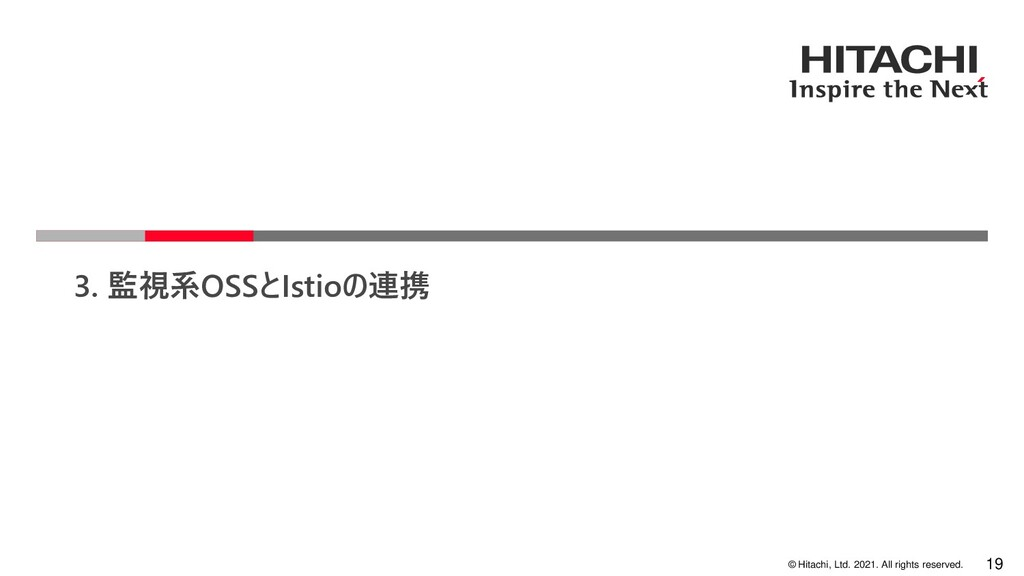© Hitachi, Ltd. 2021. All rights reserved. 3. 監...
